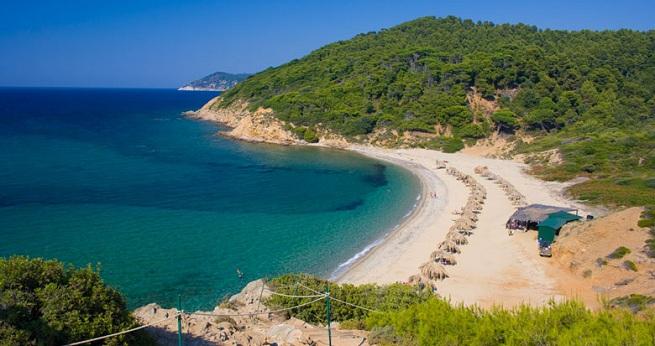 Playa en Skiathos