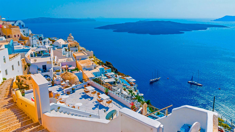 El archipiélago de Santorini. Derechos al autor